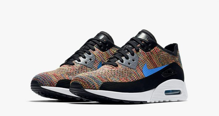 Womens Nike Air Max 90 Ultra Flyknit Multicolor