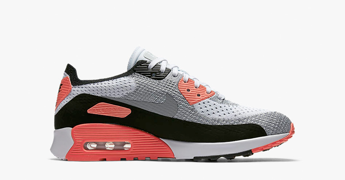 Womens Nike Air Max 90 Ultra Flyknit Infrared