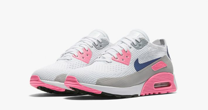 Womens Nike Air Max 90 Ultra Flyknit Laser Pink