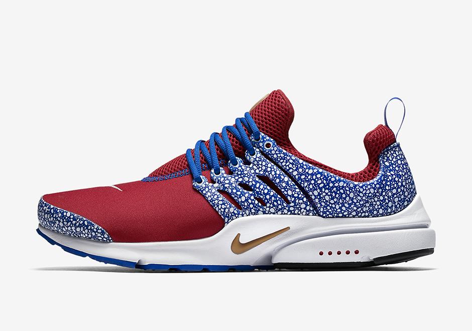 Nike Air Presto Red Blue Safari