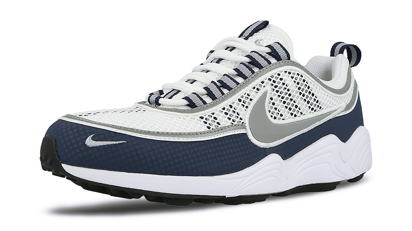 nike air zoom spiridon white light midnight cool sneakers. Black Bedroom Furniture Sets. Home Design Ideas