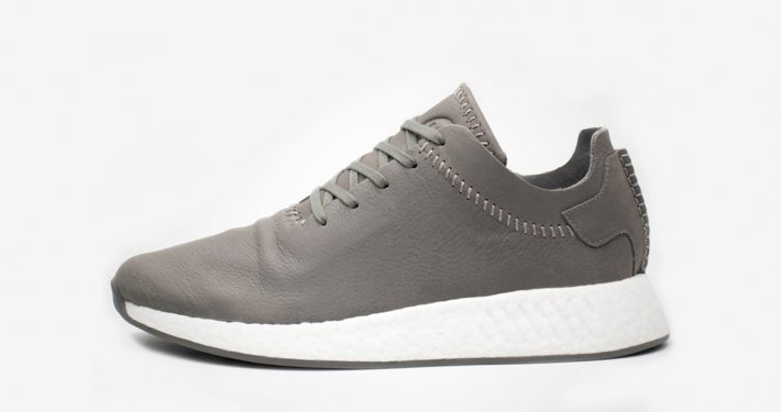 Wings + Horns x Adidas NMD R2 Leather Grey