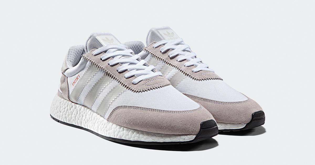 Womens Adidas Iniki White Pearl Grey Cool Sneakers