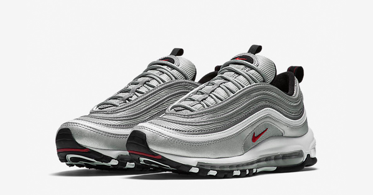 womens nike air max 97 og silver bullet cool sneakers. Black Bedroom Furniture Sets. Home Design Ideas