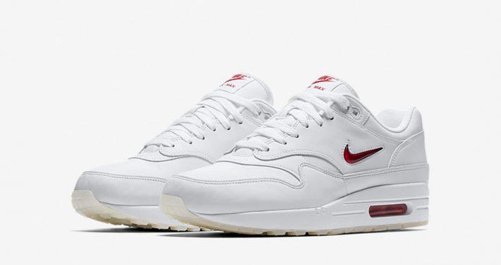 Nike Air Max 1 Jewel Swoosh White University Red