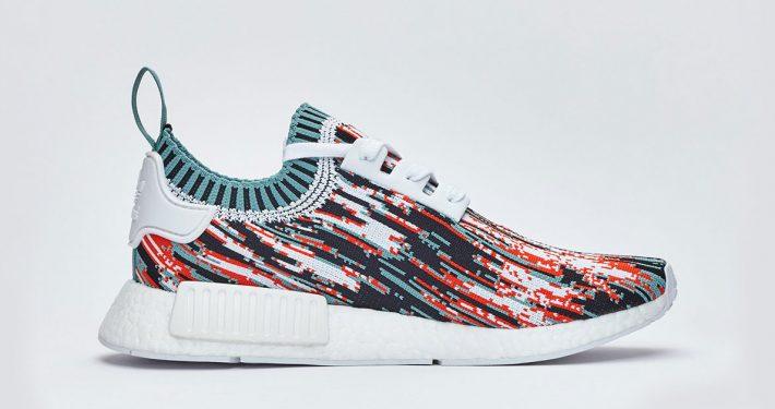 Sneakersnstuff x Adidas NMD R1 PK Datamosh Pack Red Aqua