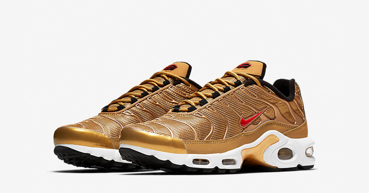 best service 766e7 a34ef Womens Nike Air Max Plus Tn Metallic Gold