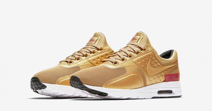 Womens Nike Air Max Zero Metallic Gold