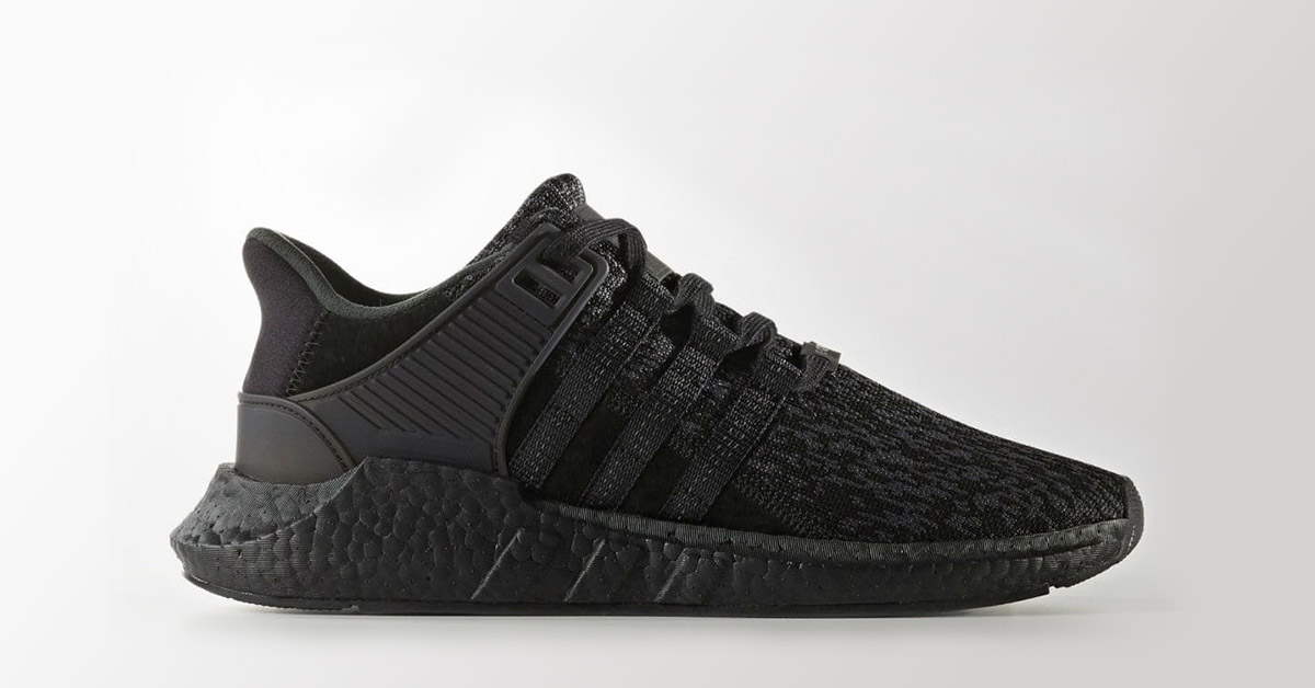 sports shoes bcf87 a6b74 Adidas EQT Support 9317 Triple Black