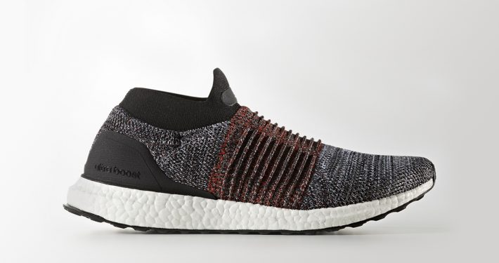 Adidas Ultra Boost Laceless Black Burgundy