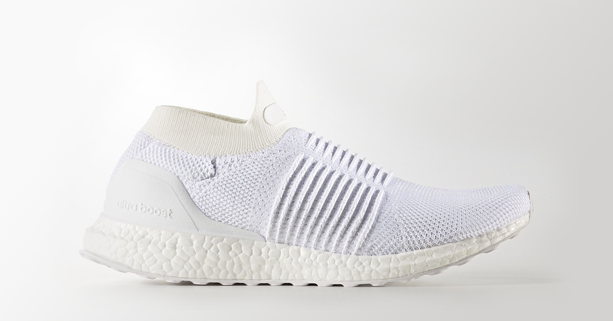 Adidas Ultra Boost Laceless Triple White Cool Sneakers