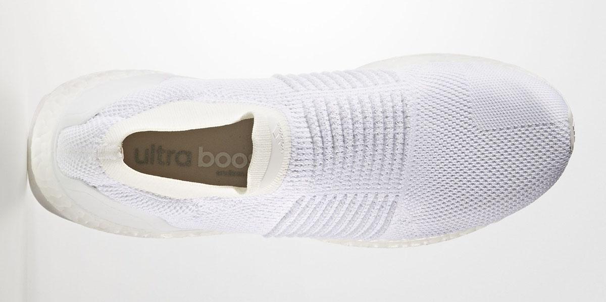 adidas ultra boost laceless triple hvid