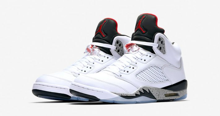 Nike Air Jordan 5 Retro White University Red