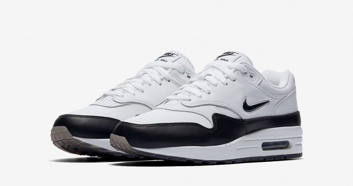 Nike Air Max 1 Jewel Swoosh Black White