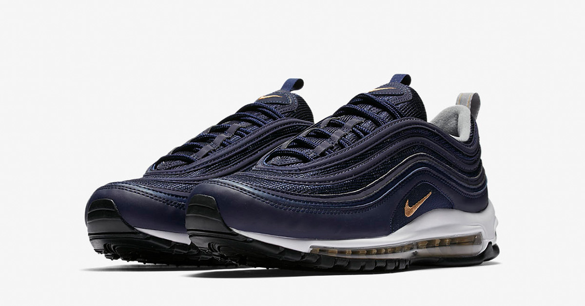 Now Available: Nike Air Max 97 Midnight Navy Metallic Gold