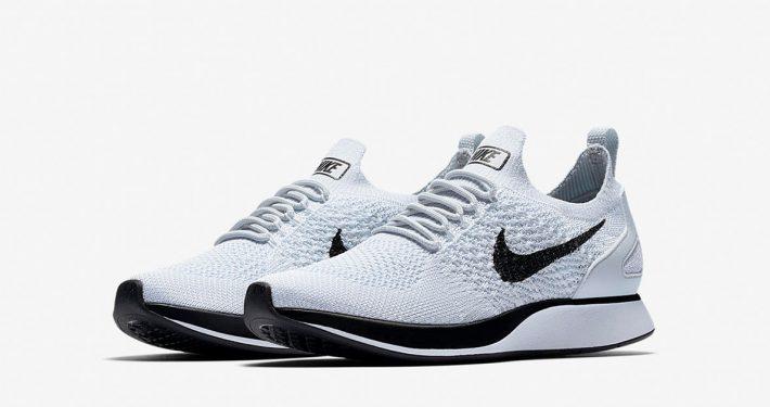 Nike Air Zoom Mariah Flyknit Racer Premium Pure Platinum Black