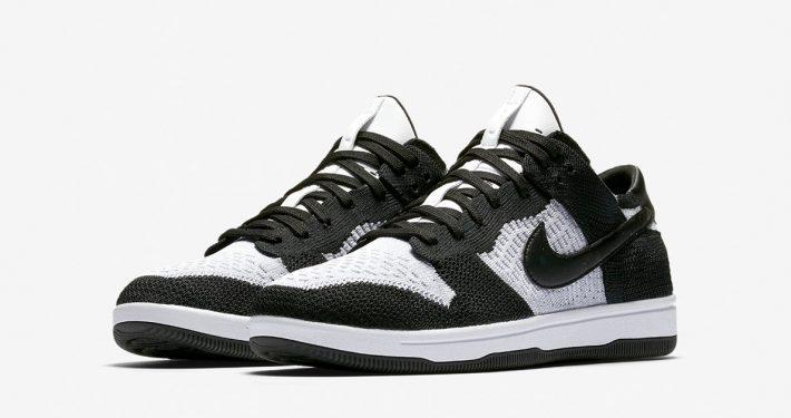 Nike Dunk Low Flyknit Black WOLF GREY