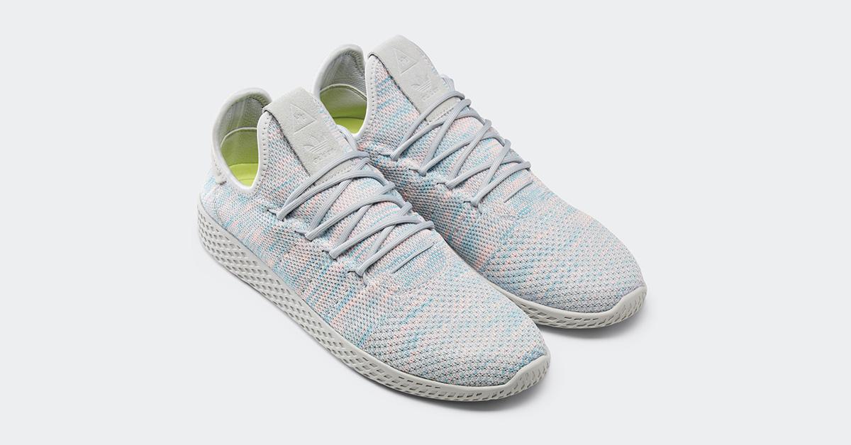 Pharrell Williams x Adidas Tennis Hu Grey Frozen