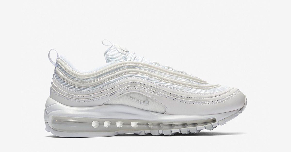 Womens Nike Air Max 97 White Pure Platinum Cool Sneakers
