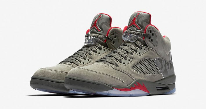 Nike Air Jordan 5 Retro Dark Stucco University Red