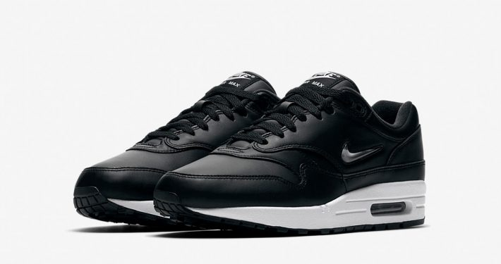 Nike Air Max 1 Premium Jewel Swoosh Black Pure Platinum