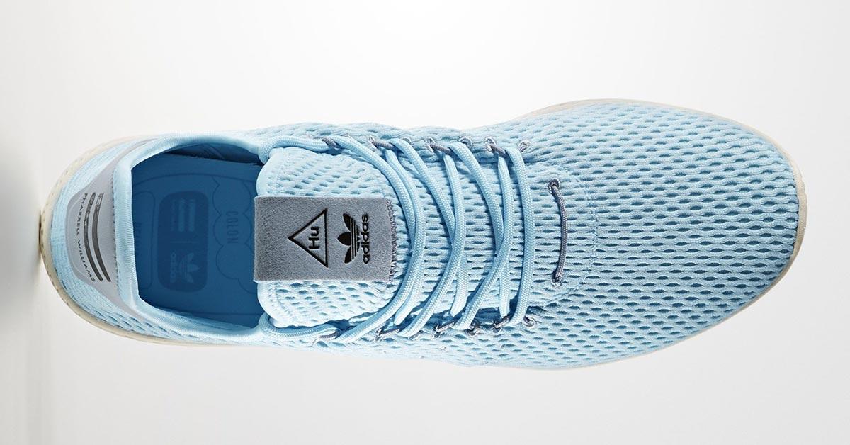 Pharrell williams scarpe adidas tennis x x hu blu ghiaccio blu freddo
