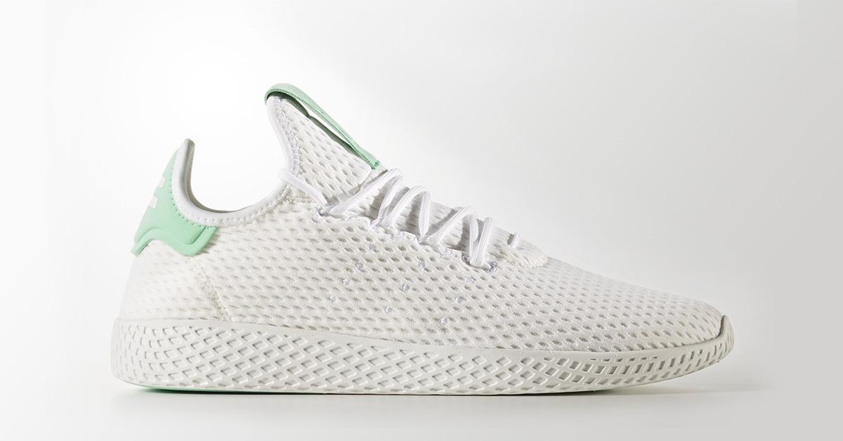 Pharrell Williams x Adidas Tennis Hu White Green Glow Cool