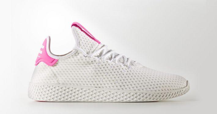 Pharrell Williams x Adidas Tennis Hu White White Pink