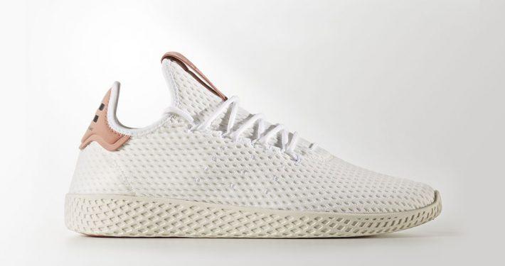 Pharrell Williams x Adidas Tennis Hu White Raw Pink