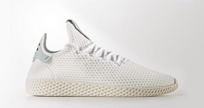 Pharrell Williams x Adidas Tennis Hu White Tactile Green