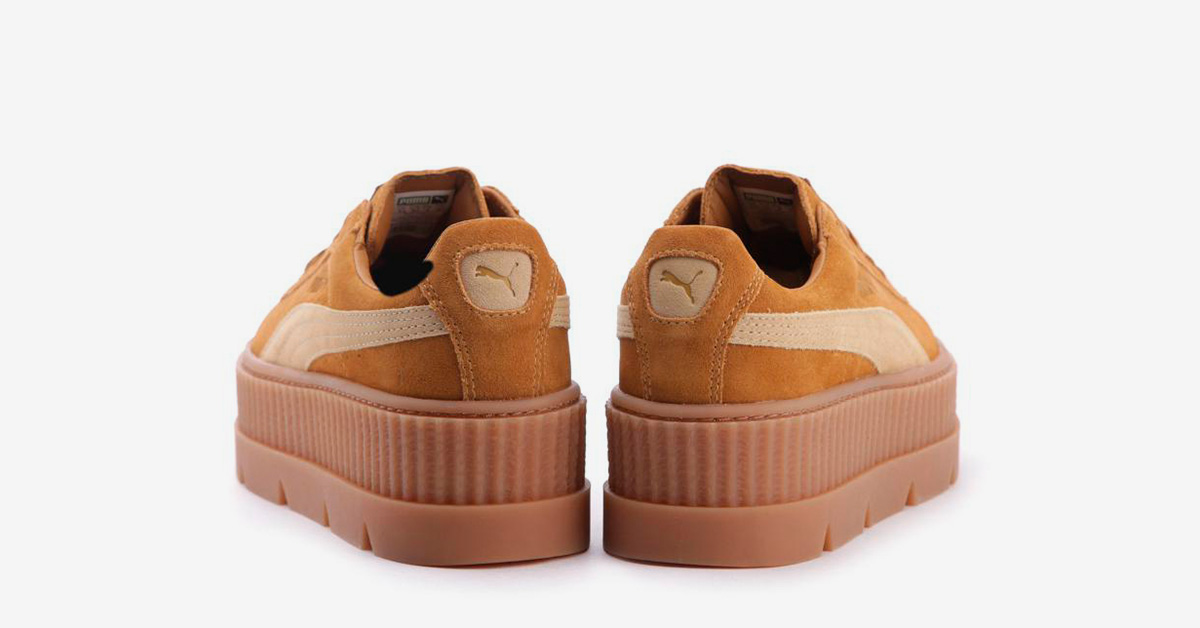Rihanna x Puma Cleated Creeper Suede Golden Brown