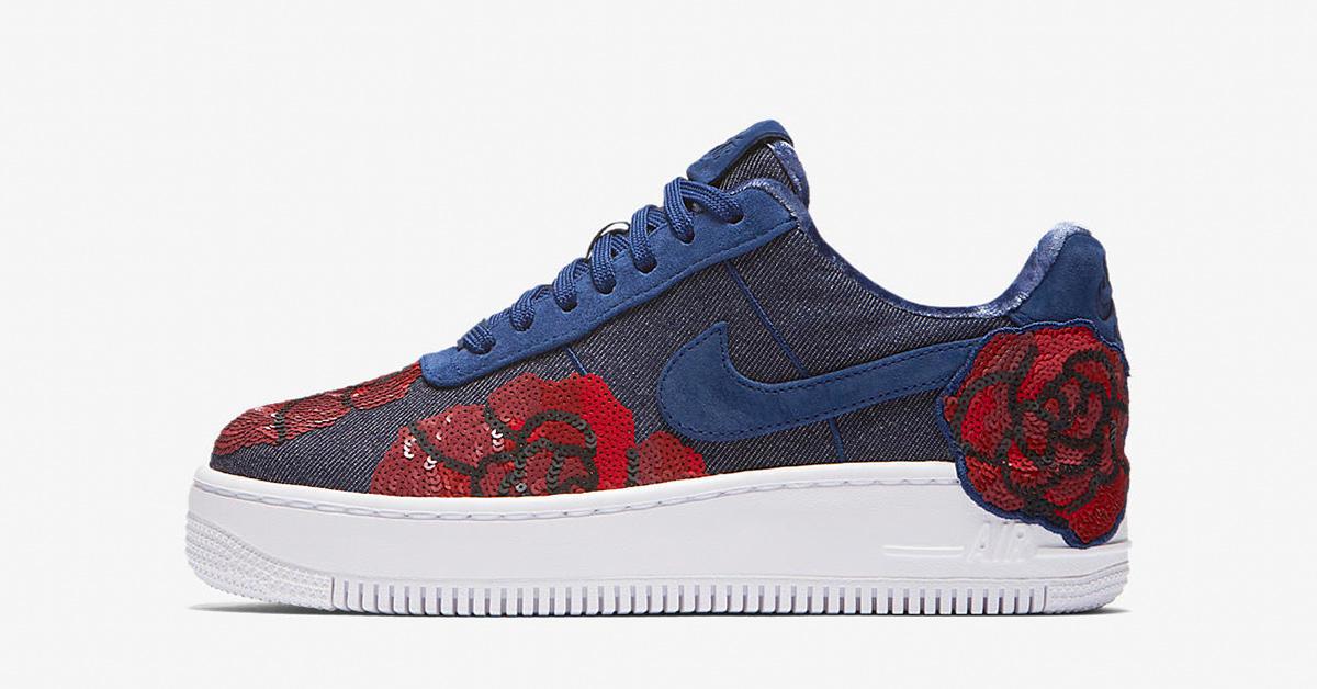 Womens Nike Air Force 1 Upstep Binary Blue Cool Sneakers