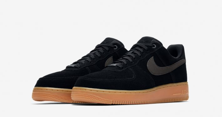 Nike Air Force 1 Low Suede Black Gum AA1117-001