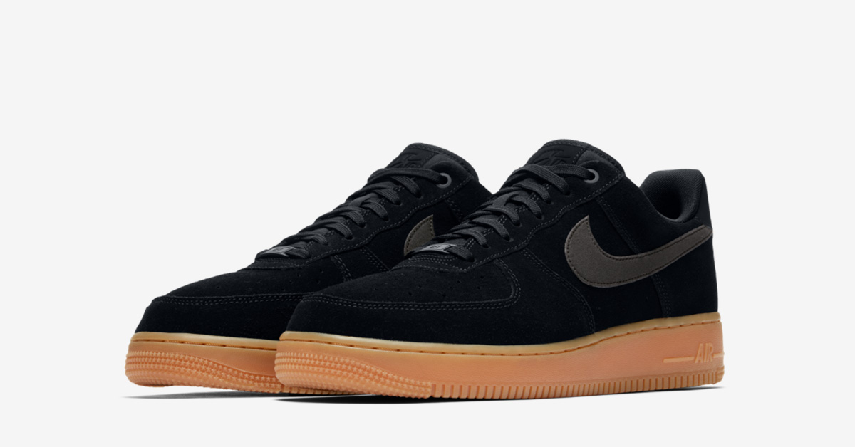 promo code 3bb36 8ef85 Nike Air Force 1 Low Suede Black Gum