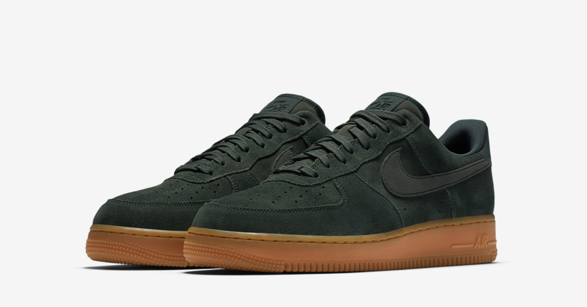 hot sale online 82f44 10b6e Nike Air Force 1 Low Suede Outdoor Green Gum