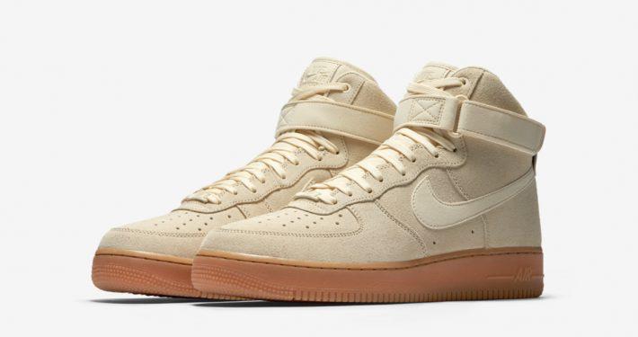 Nike Air Force 1 Mid Suede Muslin Gum AA1118-100
