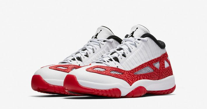 Air Jordan 11 Retro Low White Gym Red