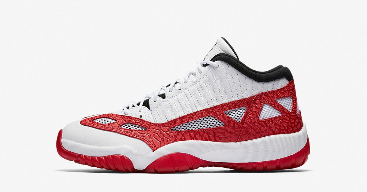 Air Jordan 11 Retro Low White Gym Red