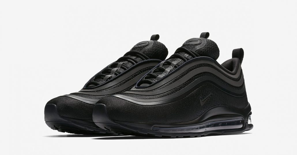 nike air max 97 ultra triple black cool sneakers. Black Bedroom Furniture Sets. Home Design Ideas