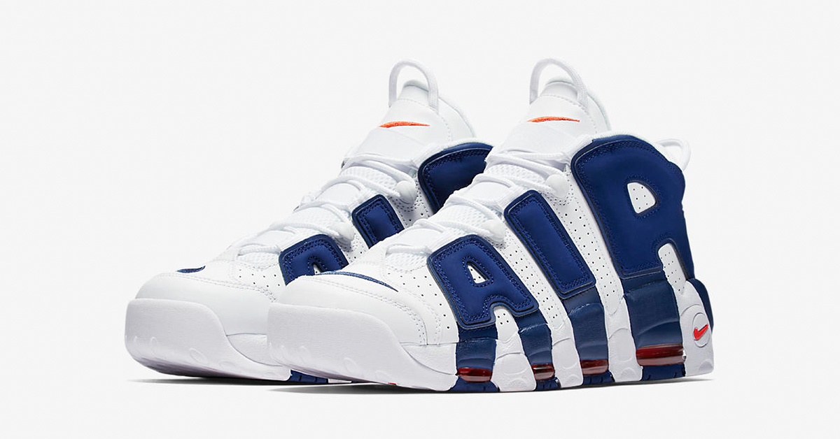 Nike Air More Uptempo White Deep Royal Blue