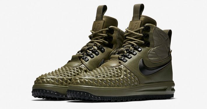 Nike Lunar Force 1 Duckboot Medium Olive Wolf Grey
