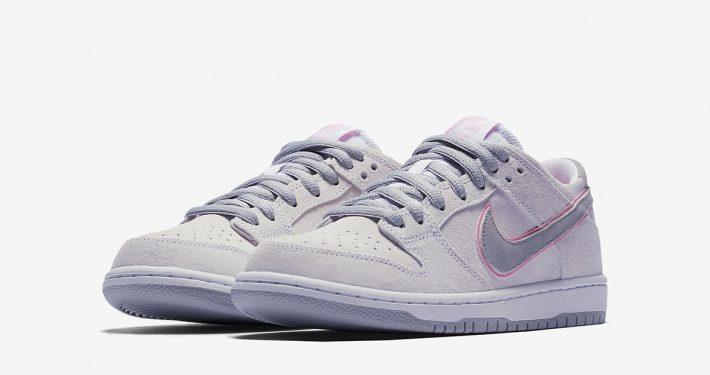 Nike SB Dunk Low Pro Ishod Wair Flat Silver Perfect Pink