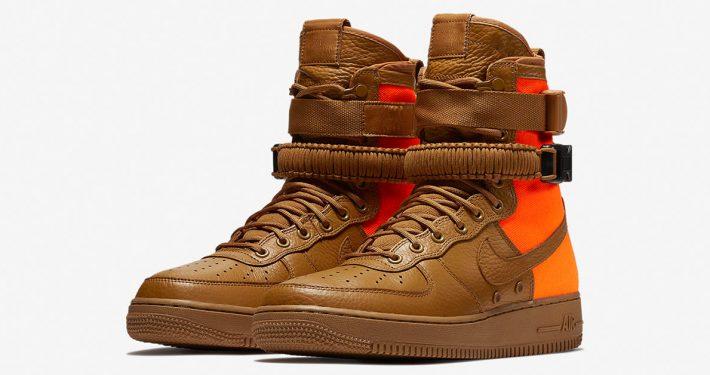 Nike Special Field Air Force 1 Desert Ochre Total Orange
