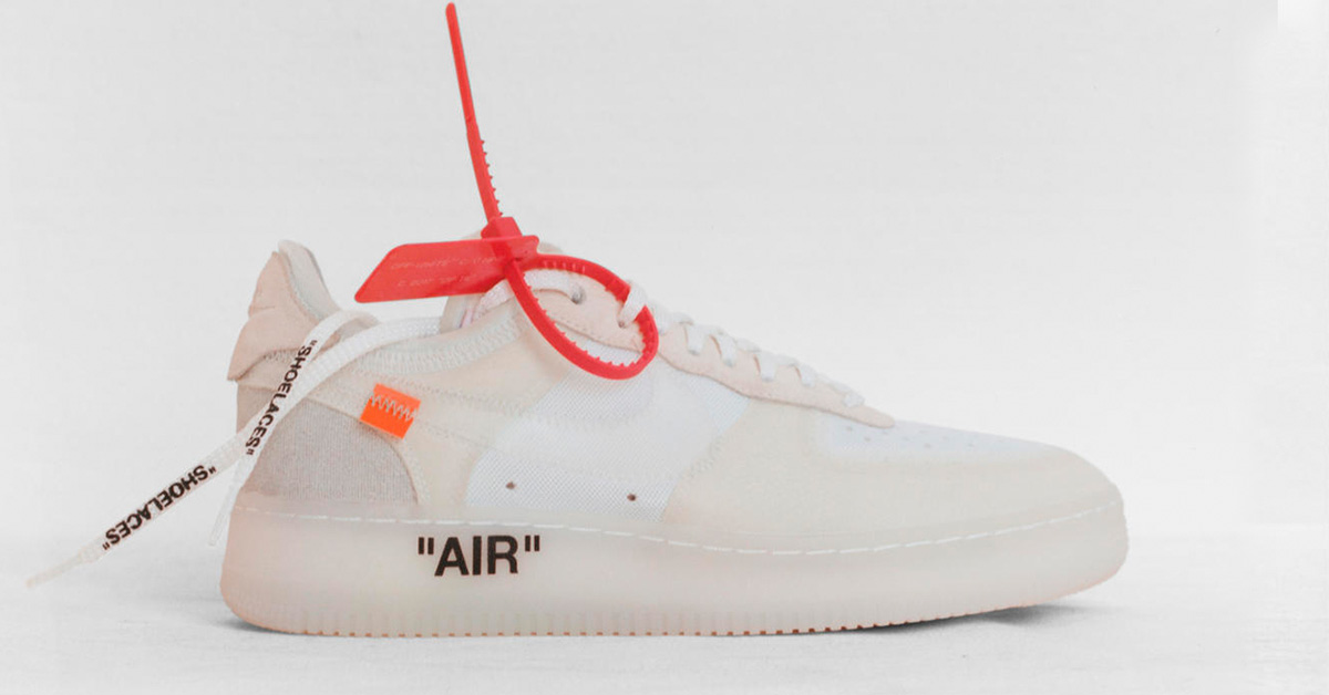 huge discount 971d1 5769b Virgil Abloh x Nike Air Force 1 Low Ghosting