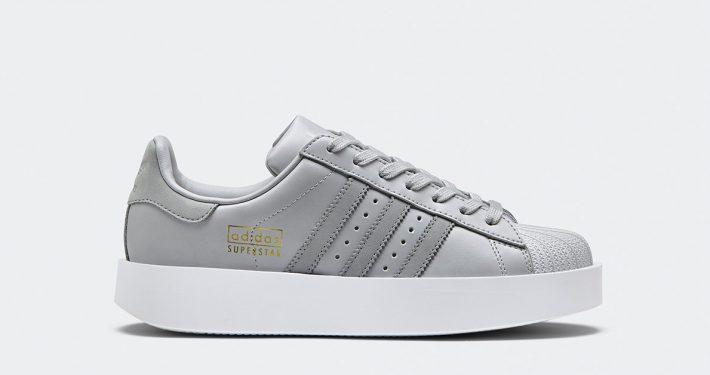 Womens Adidas Superstar Bold Grey