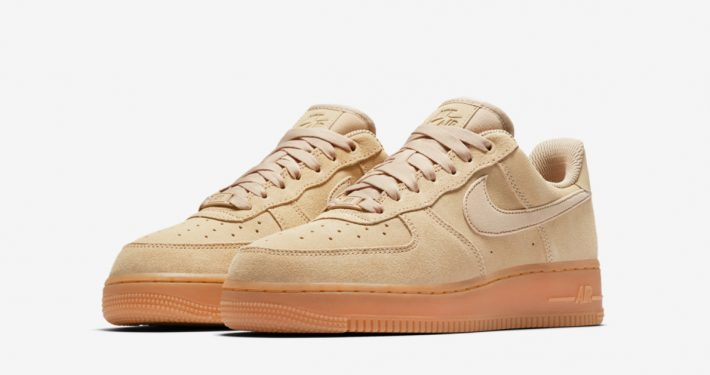 Womens Nike Air Force 1 Low Suede Mushroom Gum AA0287-200