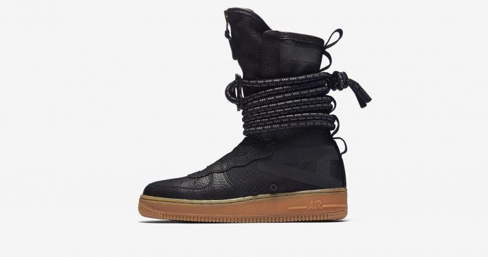 Womens Nike Special Field Air Force 1 High Black Gum
