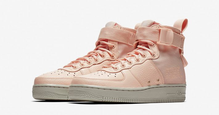 Womens Nike Special Field Air Force 1 Mid Orange Quartz Pale Grey