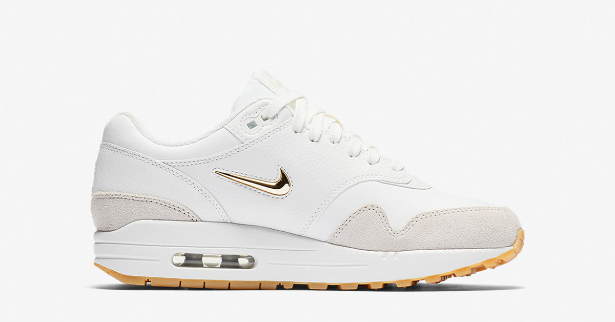 Womens Nike Air Max 1 Premium Jewel Summit White AA0512-100