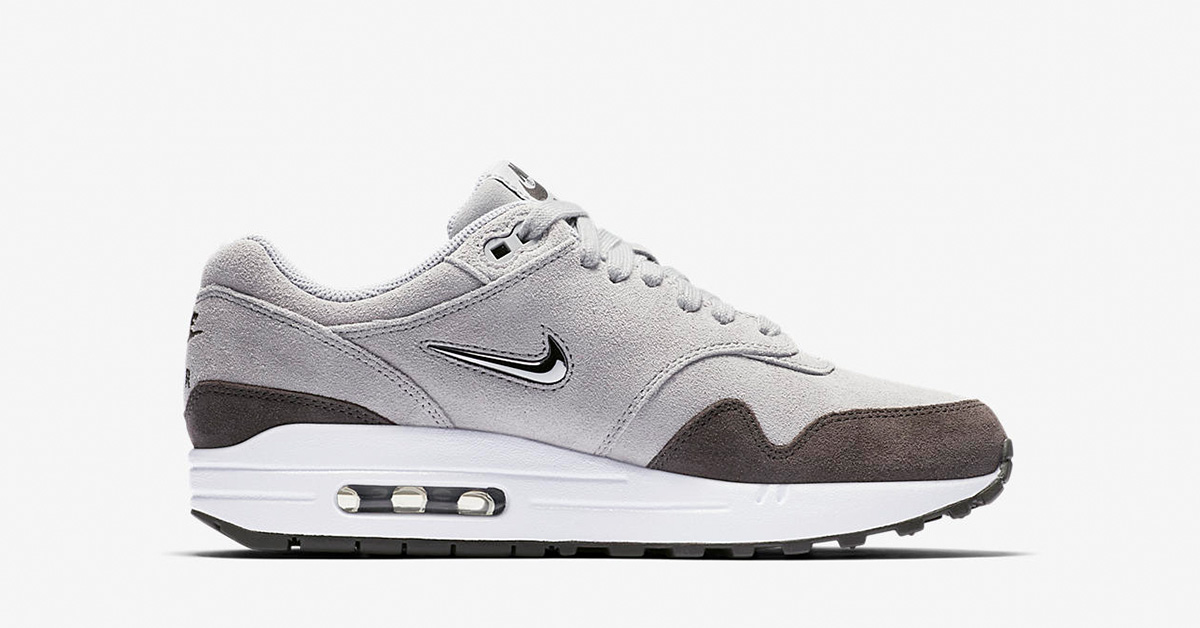 Womens Nike Air Max 1 Premium Jewel Wolf Grey AA0512-002